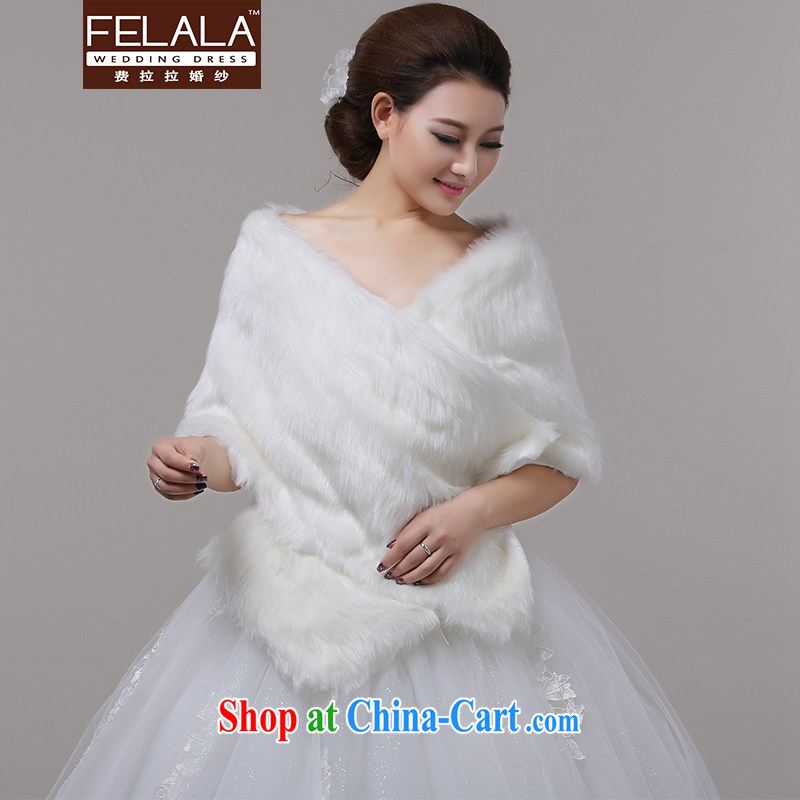 Ferrara 2013 new long hair shawl wedding dresses accessories bridal wedding accessories thick autumn and winter
