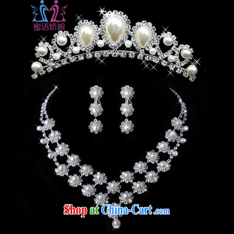 Honey, bride new kit link Pearl necklace + Crown bridal accessories wedding dresses accessories jewelry accessories