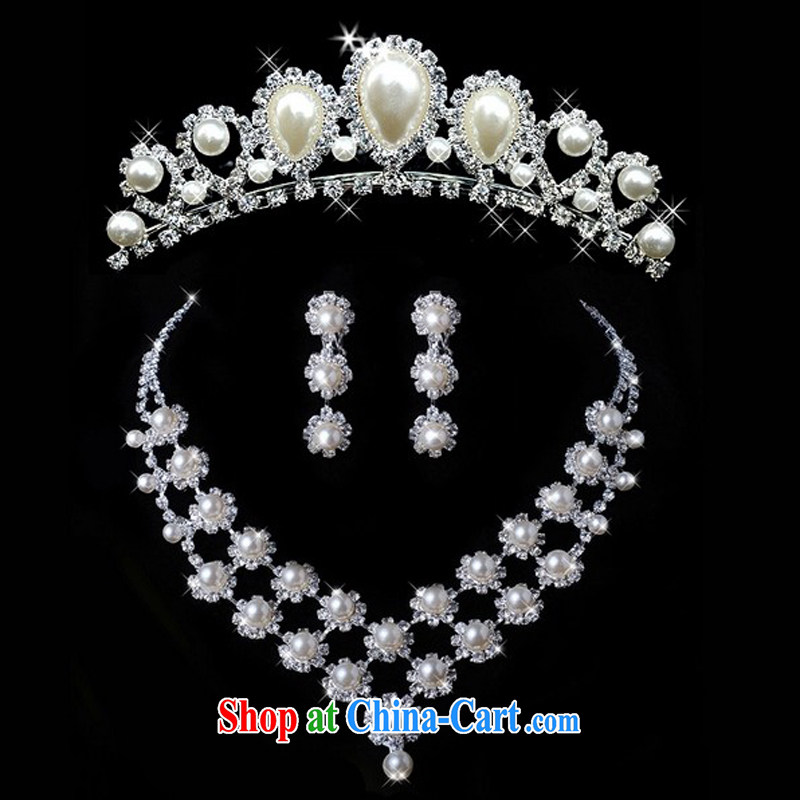 Honey, bride new kit link Pearl necklace + Crown bridal accessories wedding dresses accessories accessories jewelry, honey, bride, shopping on the Internet