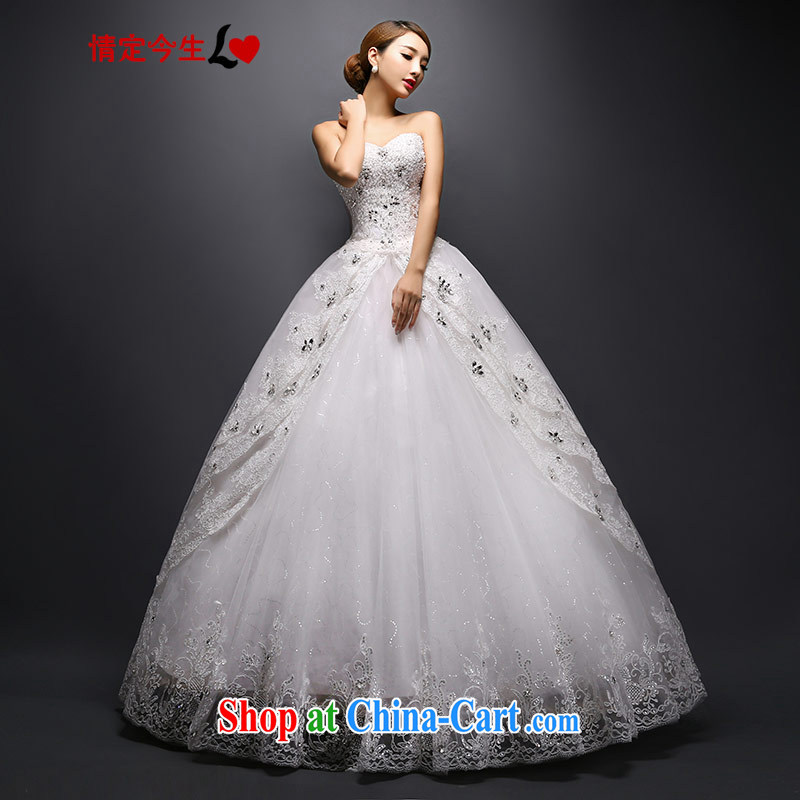 Love Life 2015 new Korean video thin lace bridal erase chest wedding canopy skirts wedding white XXL