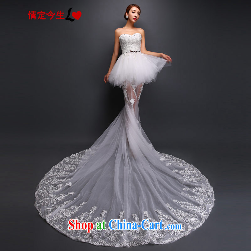 The Code Love Mary Magdalene temporal chest graphics thin lace pregnant women wedding dresses bride's long-tail White made for a