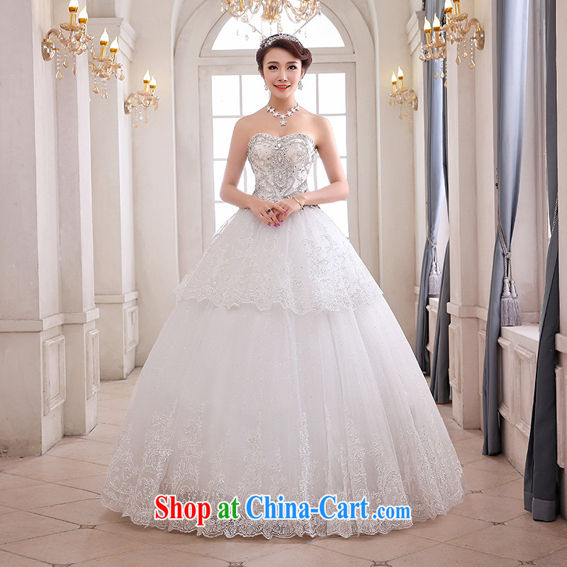 Hi Ka-hi wedding XS 03 2014 new erase chest Korean version Euro-style palace with strap wedding ivory left size tailored