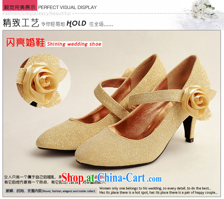 Dora's Angel, golden light pink, and, with one side gold roses bridal wedding shoes, wedding show photo shoes gold 39 pictures, price, brand platters! Elections are good character, the national distribution, so why buy now enjoy more preferential! Health