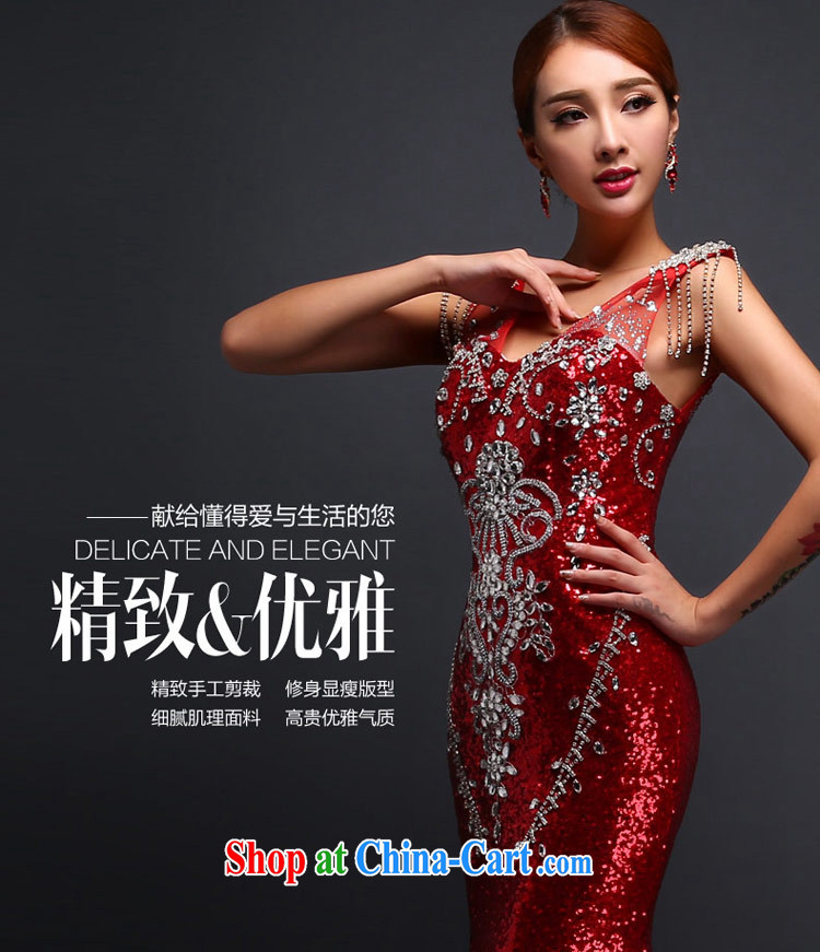 Love Life 2015 new bride's toast clothing, crowsfoot-tail fall and winter new dress wedding V collar inserts drill red made specifically take a picture, price, brand platters! Elections are good character, the national distribution, so why buy now enjoy more preferential! Health