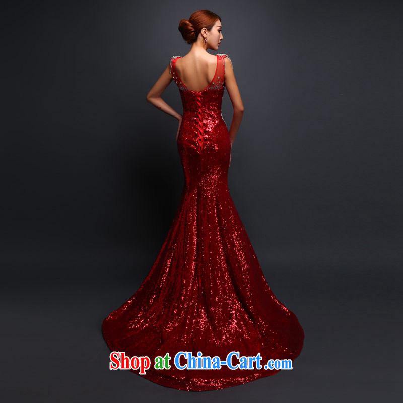 Love Life 2015 new bride's toast clothing, crowsfoot-tail autumn and winter, new dress wedding V for wood drilling red made specifically, love life, and shopping on the Internet
