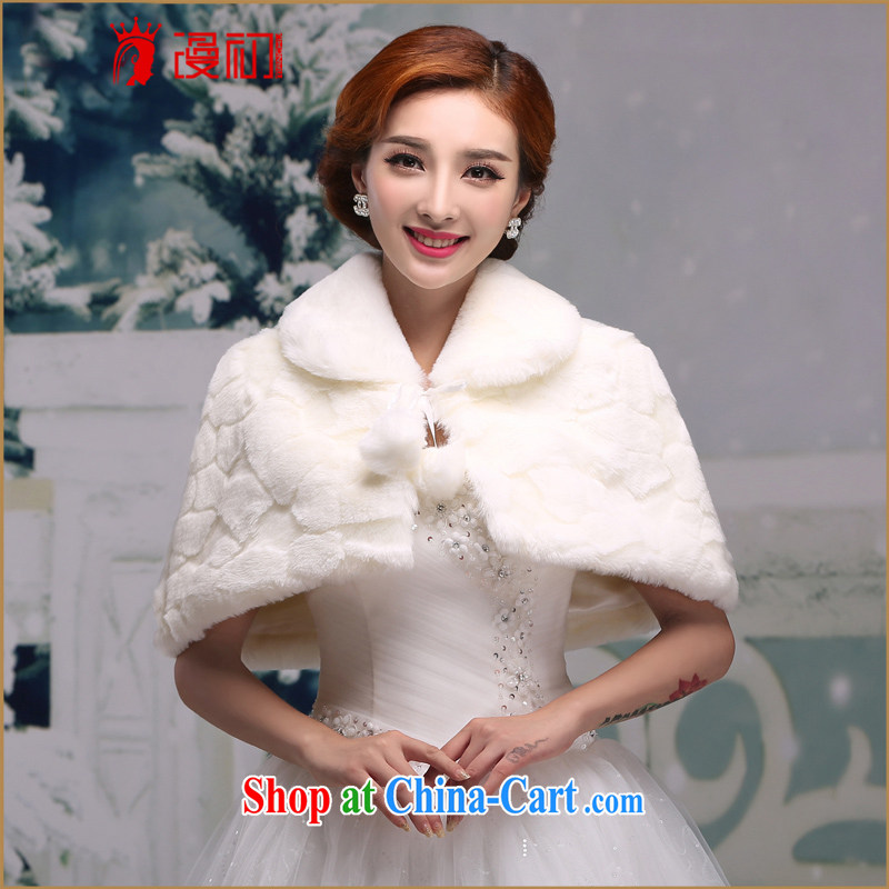 Early definition 2015 new hair shawl wedding shawl dress dresses bridesmaid wedding jacket bridal shawl white autumn and winter white