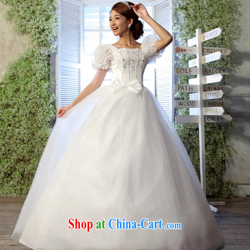 A good service is 2015 new bride Korean version the waist graphics thin package shoulder thick mm larger custom wedding dresses white 5XL