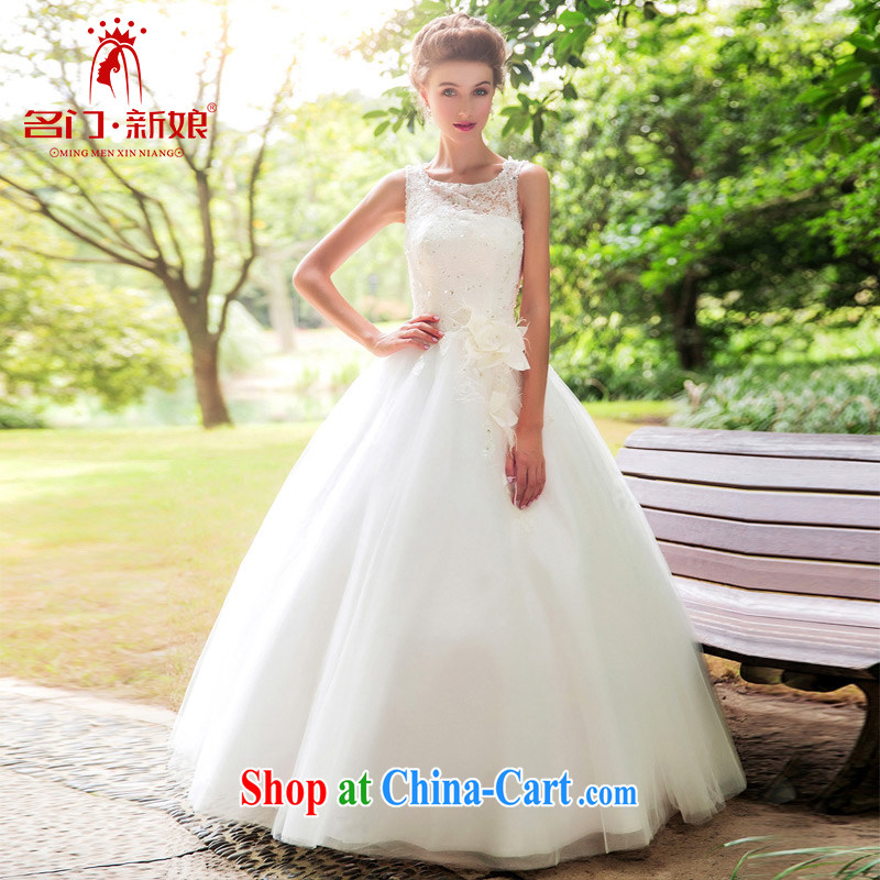 The bride's wedding dresses new 2015 drill manual staple Pearl shaggy Princess wedding 885 M