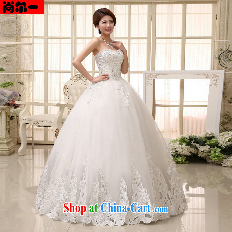 There is a new wedding dresses Princess Korean bridal sweet and elegant with bare chest strap XL wedding XS 1019 white XXL