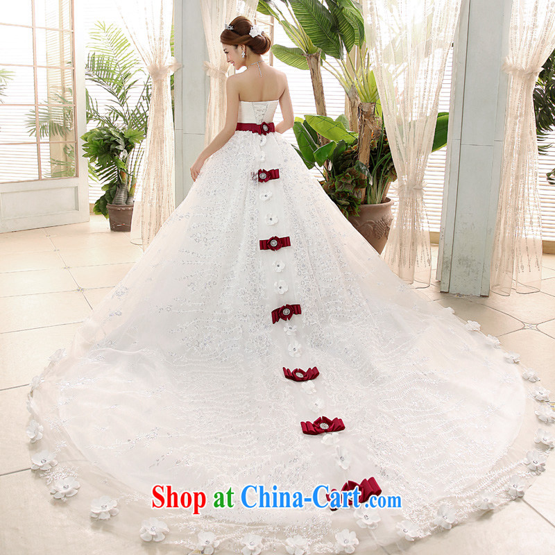 A good service is 2015 new marriages Korean tail sweet Princess Mary Magdalene chest wedding dresses White - 5-Day Shipping will not do not switch size message