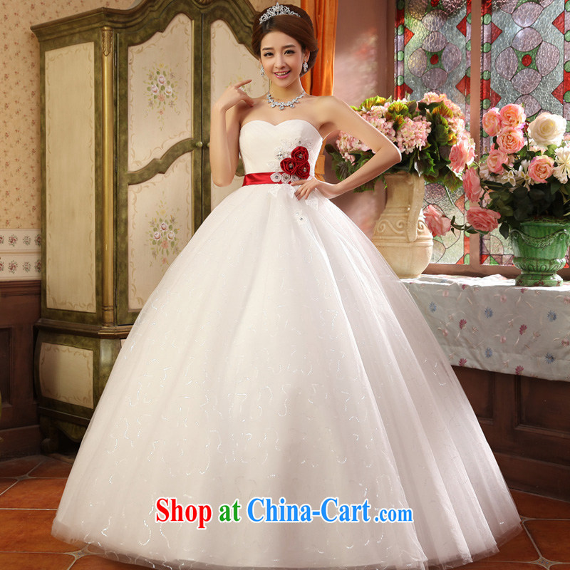 A good service is 2015 new marriages Korean Princess Mary Magdalene chest shaggy dress flowers with wedding dresses white XXL