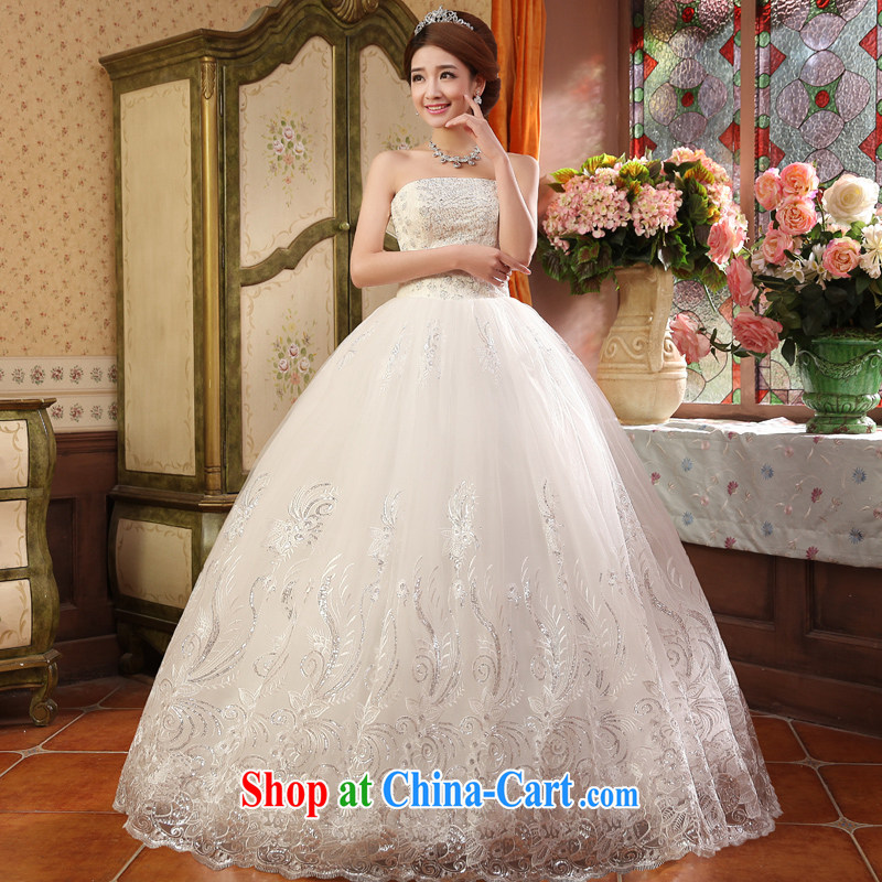 A good service is 2015 new marriages Korean Princess Mary Magdalene his chest and shaggy dress wedding dresses white XXL