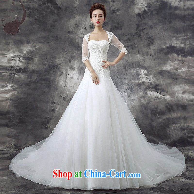 Dream of the day wedding dresses new 2015 bridal lace cuff in cultivating Deluxe long-tail with wedding 1773 white tail, M 2.0 feet waist