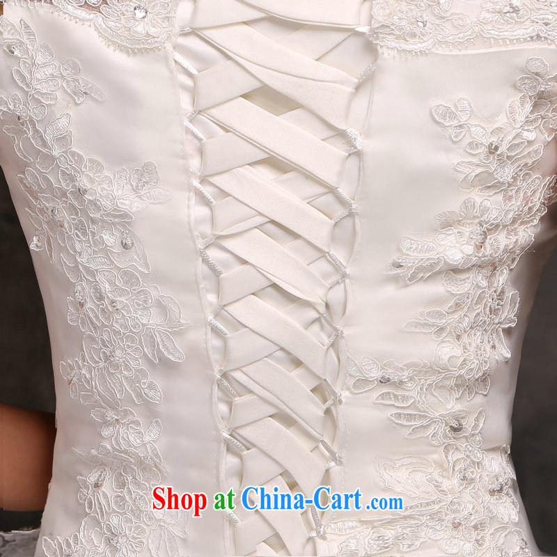 7 color 7 tone Korean version 2015 new wedding dresses video thin the Field shoulder lace tail marriages go nowhere yarn H 049 white with S, 7 color 7 tone, shopping on the Internet
