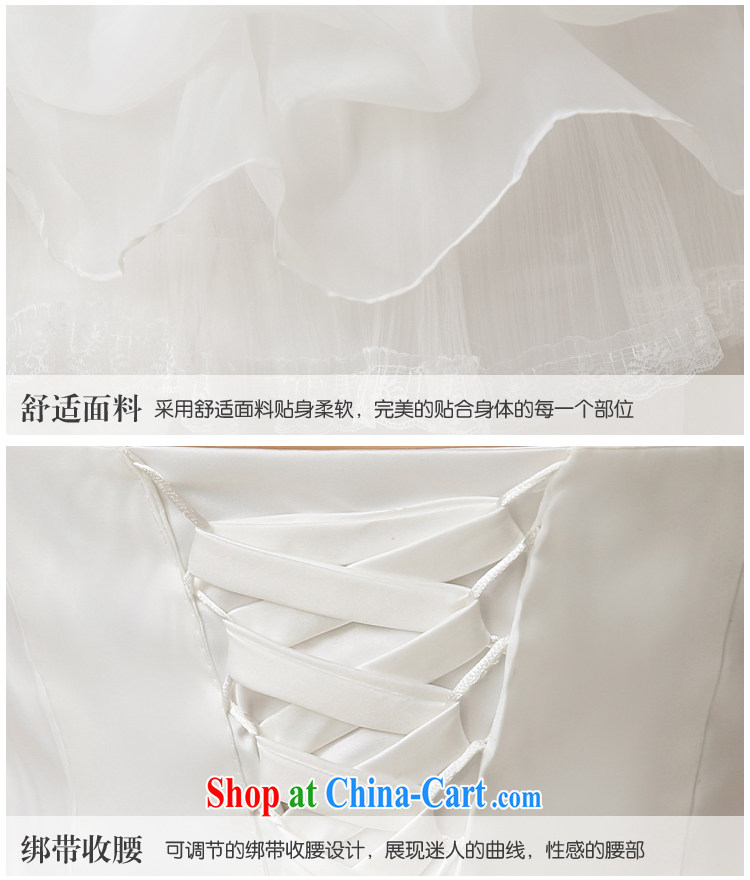 There is embroidery bridal 2015 new erase chest Korean marriage video thin with stylish tie-down the tail wedding white tailored final pictures, price, brand platters! Elections are good character, the national distribution, so why buy now enjoy more preferential! Health