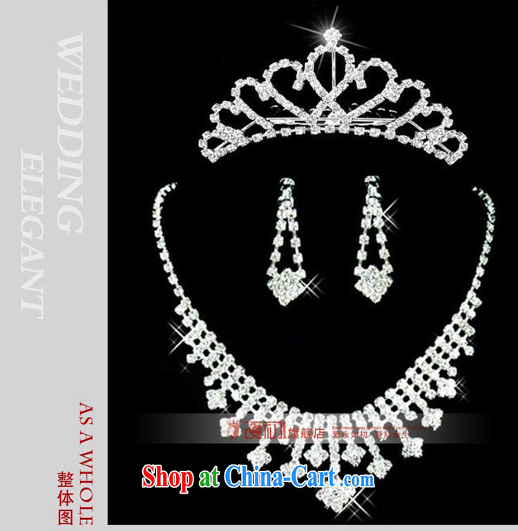 Early spread Korean-style necklace earrings crown and trim rings bracelets 2015 bridal jewelry set of 5 wedding jewelry wedding wedding accessories pictures, price, brand platters! Elections are good character, the national distribution, so why buy now enjoy more preferential! Health