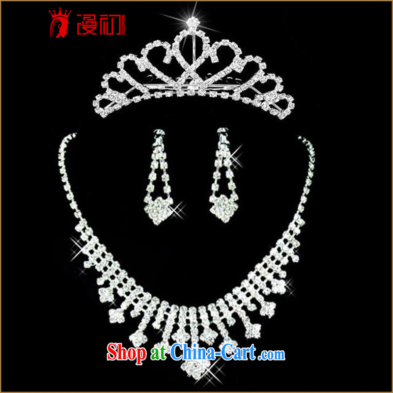 Early spread Korean-style necklace earrings crown and trim rings bracelets 2015 bridal jewelry set of 5 wedding jewelry wedding wedding accessories