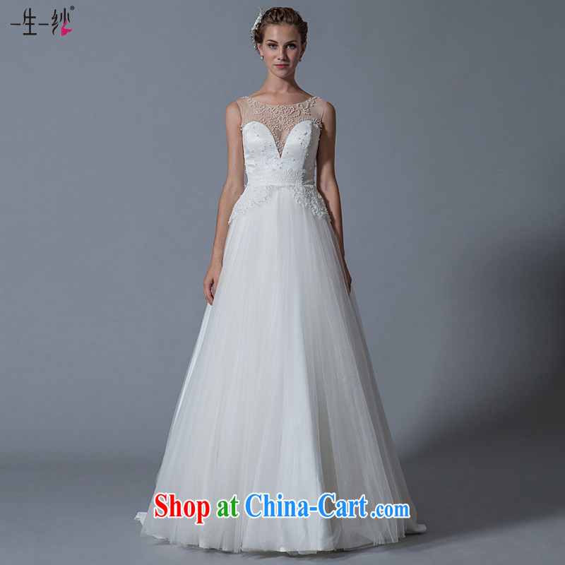 A lifetime by 2015 new, Japan, and South Korea high-waist the Field shoulder Pearl wedding butterfly pattern with wedding 40141082 white XXL code 30 days pre-sale