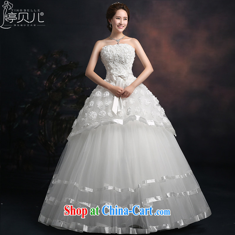 Ting Beverly wedding dresses 2015 new spring and summer wedding dresses Lace Embroidery Mary Magdalene marriage chest Korean version with the Code wedding white XXL