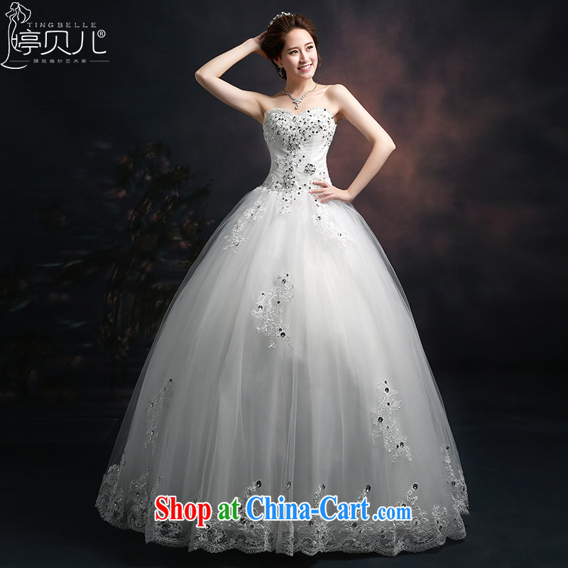 Ting Beverly bridal suite 2015 new spring and summer fashion with bride, Mary Magdalene chest parquet drill cultivating Korean video thin wedding summer lace white XXL