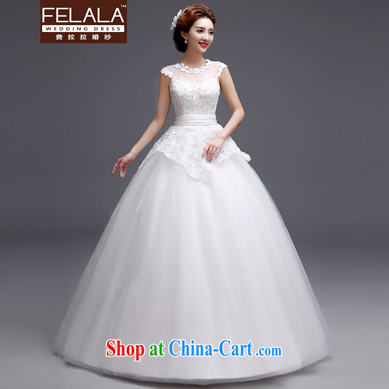 Ferrara 2015 new sweet lace-up drill bow-tie straps wedding dresses XL (2 feet 2)