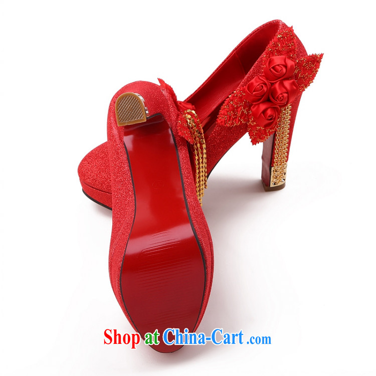 Lisa Donald Rumsfeld's autumn light port sweet flowers lift deck wedding shoes round-head fine heel women shoes high-heel shoes, shoes national package mail red 39 12 cm high pictures, price, brand platters! Elections are good character, the national distribution, so why buy now enjoy more preferential! Health