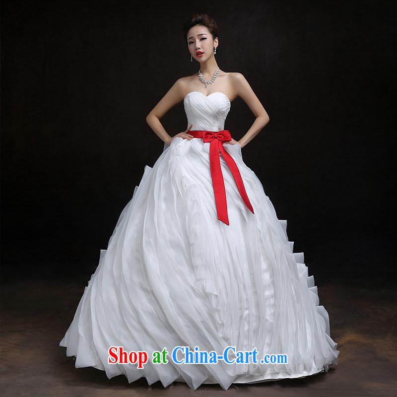According to Lin Sa 2015 new Korean bridal wedding erase chest vera wang Wang smiled classic wedding Red Belt are code