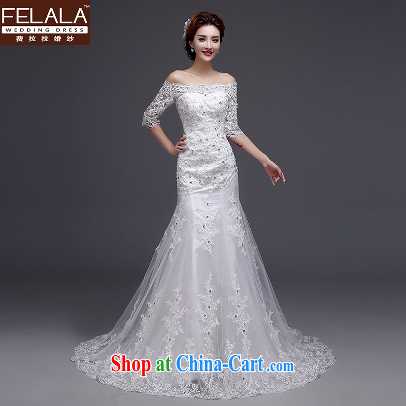 La winter 2015 New Beauty video thin thick crowsfoot field shoulder wedding dresses M _2 feet_