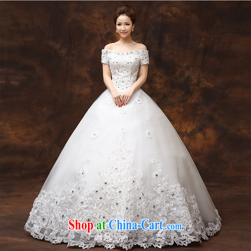 According to Lin 2015 Elizabeth's new bride a Field shoulder wedding dresses Korean version lace graphics thin alignment to bind with the Code wedding dresses made a tailored contact Customer Service