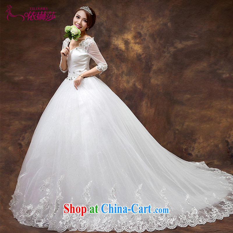 According to Lin Sa 2015 new wedding dresses the Field shoulder cuff in cultivating wedding dresses the tail in Europe retro lace long-tail tailored contact Customer Service