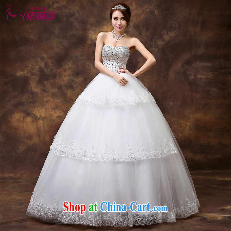 According to Lin Windsor wedding 2015 new high quality wood drill with bare chest wedding dresses Korean version with Princess bride wedding tailored contact Customer Service