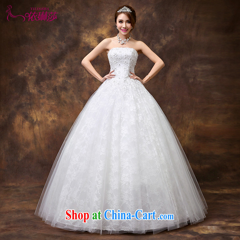 2014 new wedding dresses flowers lace retro tied with Korean Princess sweet wiped his chest, wedding tailored contact Customer Service