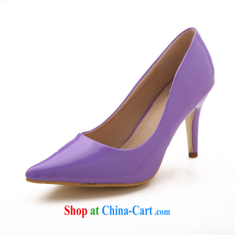 Lisa Donald Rumsfeld's new tips, wedding shoes, shoes and shoes stage performances, shoes, summer, autumn and winter, women's footwear M 900 light purple 39 8 cm high