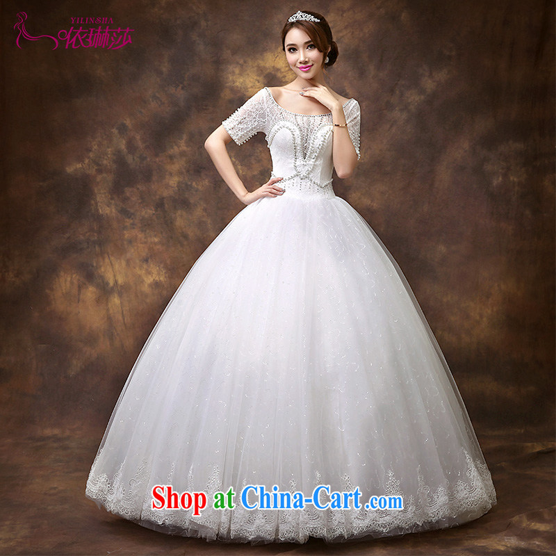 According to Lin Sa 2015 new wedding dresses the Field shoulder half sleeve wedding lace graphics thin large code wedding nails Pearl tailored contact Customer Service