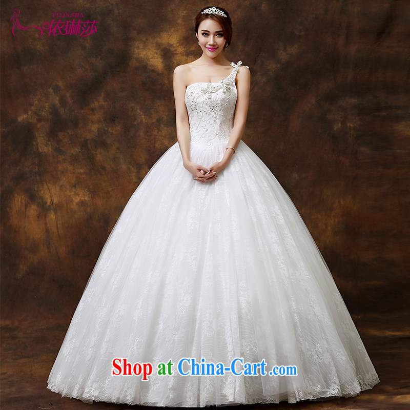 Bridal wedding dresses 2014 new Korean version is the shoulder to align graphics thin diamond lace wedding dresses tailored contact Customer Service