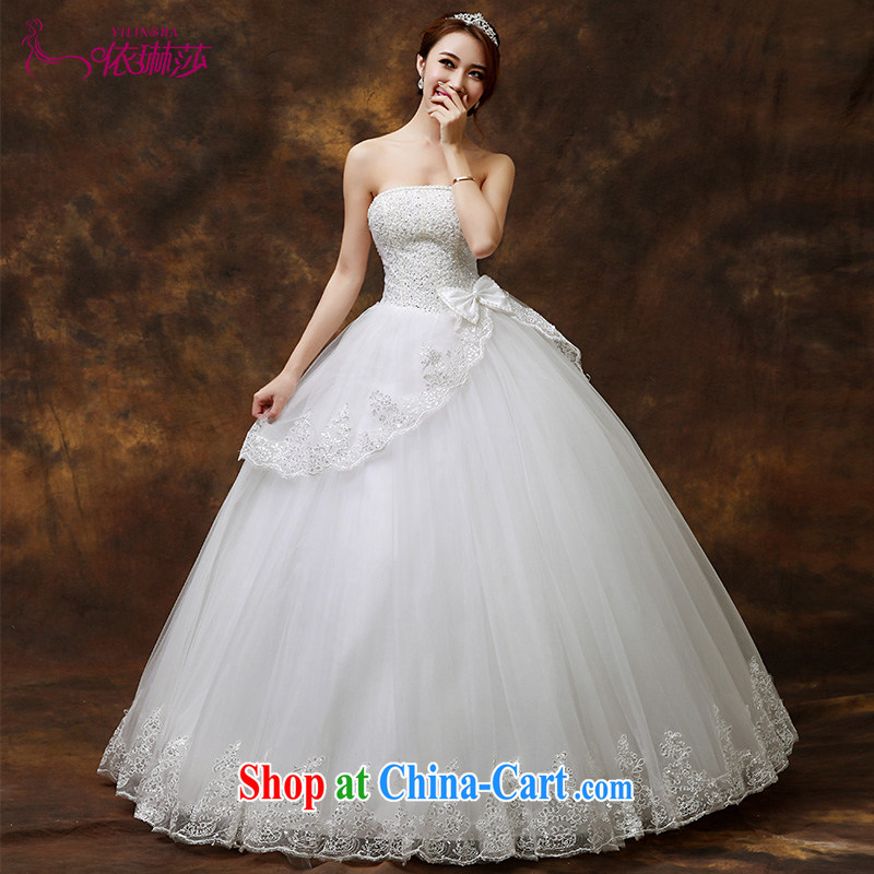 wedding dresses new 2015 new Korean bridal white beauty with parquet drill wiped his chest wedding tailored contact Customer Service