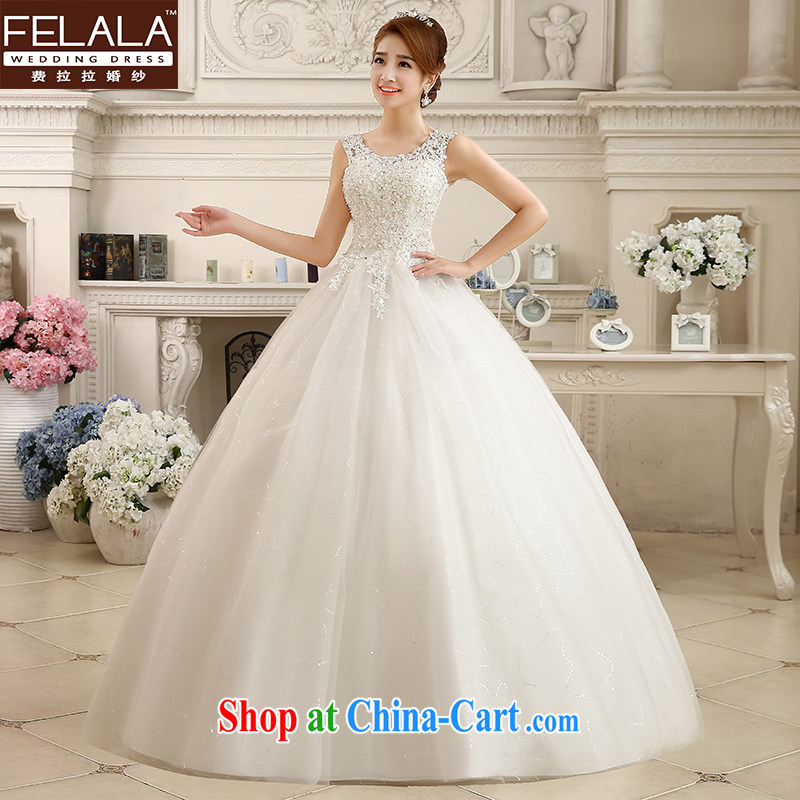 Ferrara 2015 new winter wedding retro lace beauty graphics thin with straps wedding dresses XL _2 feet 2_
