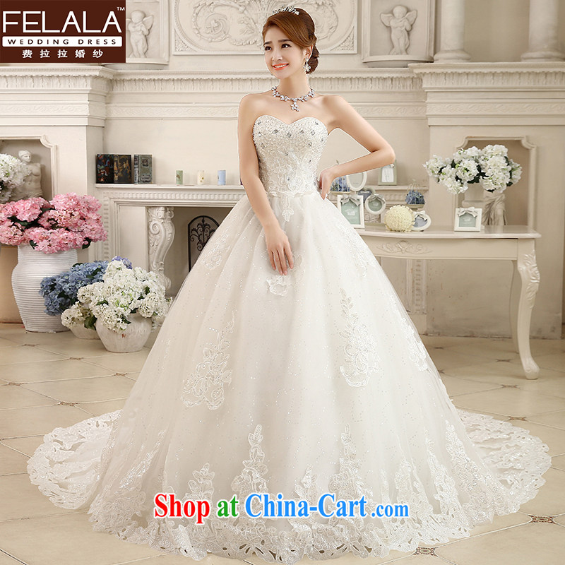 Ferrara 2015 new lace bare chest parquet drill large tail Korean Beauty graphics thin winter, thick wedding M _2 feet_
