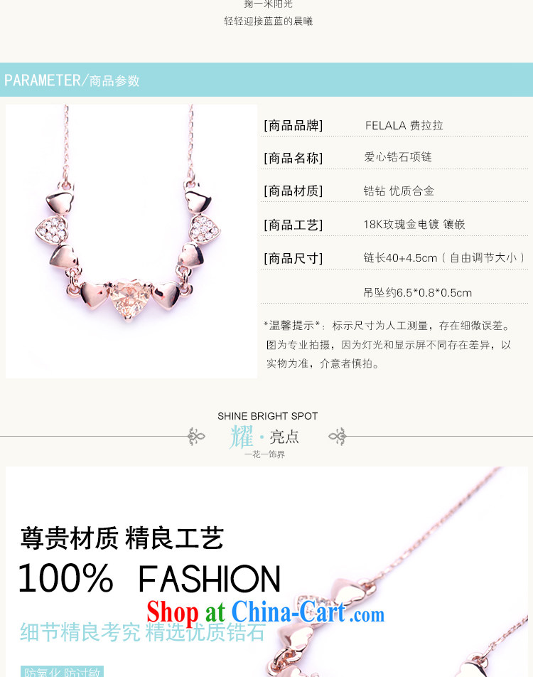 Ferrara Korean-style simple heart-shaped Luxury Water drilling titanium steel rose gold necklace female clavicle link birthday gift short pictures, price, brand platters! Elections are good character, the national distribution, so why buy now enjoy more preferential! Health