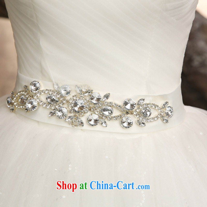 Honey, bride wedding dresses 2015 New Field shoulder collar with larger graphics thin marriages Korean Princess home yarn white XXL, honey, bride, shopping on the Internet