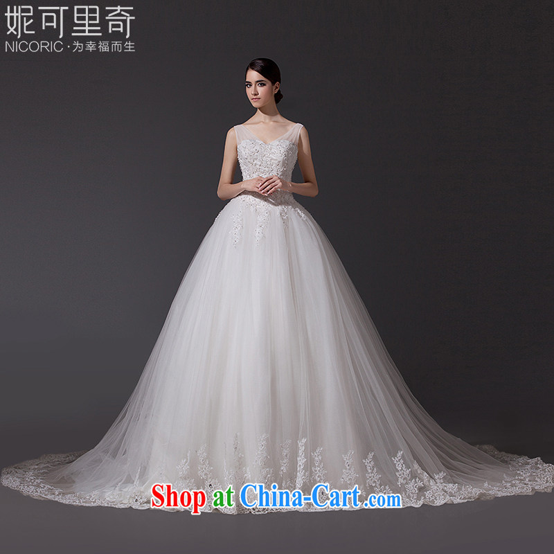 Bridal wedding dresses new 2015 summer new dual-shoulder wedding lace wedding long-tail wedding band wedding Women's Code wedding pregnant women can be custom-tail 200 CM advanced customization (15 day shipping)