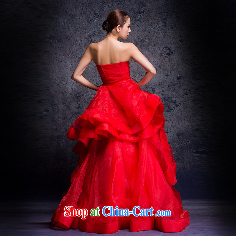 wedding dresses 2015 New Red wedding erase chest wedding with wedding pregnant women the code wedding bridal marriage wedding toast stage moderator dress red advanced customization 15 Day Shipping, Nicole Richie (Nicole Richie), online shopping