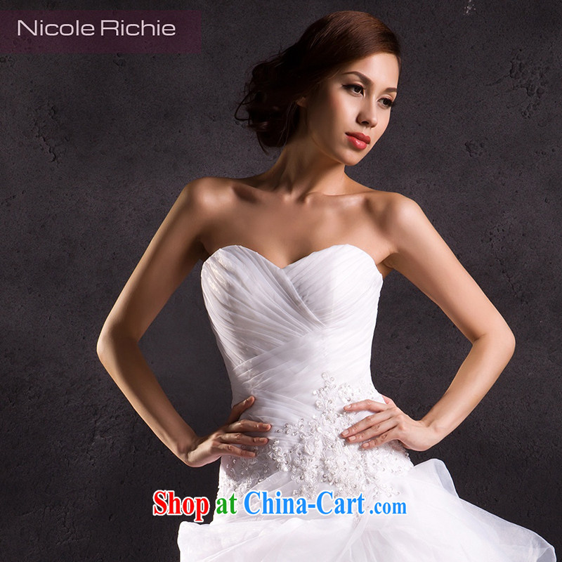 Nicole Richie wedding dresses spring 2015 new stylish and wiped his chest wedding-tail wedding long-tail marriages wedding, tie-tail 200 CM Advanced Customization 15 Day Shipping, Nicole Richie (Nicole Richie), online shopping