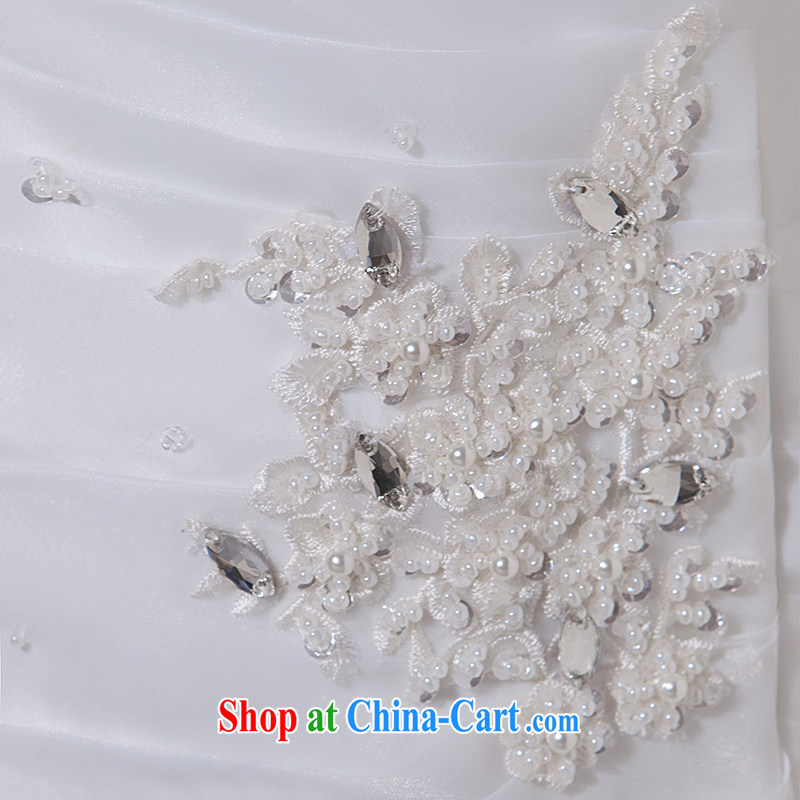 Nicole Richie wedding dresses 2015 new summer single shoulder wedding dresses at Merlion wedding small tail wedding bridal wedding dresses wedding wedding band video thin large, white Advanced Customization 15 Day Shipping, Nicole Richie (Nicole Richie),