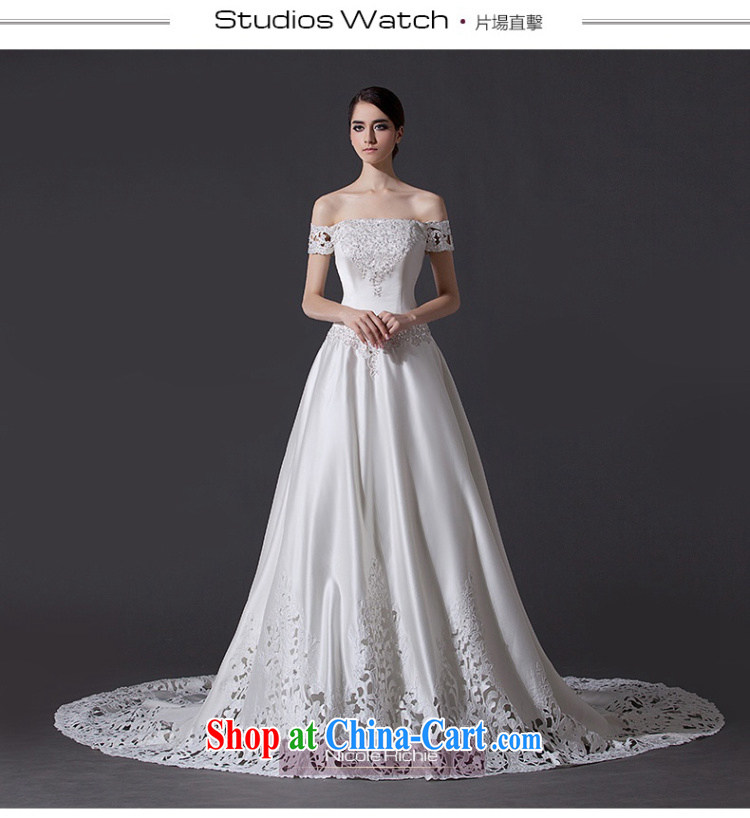 Nicole Richie wedding dresses 2015 summer new high-field shoulder wedding long-tail wedding bridal wedding wedding wedding dresses larger wedding band wedding tail 60 CM Advanced Customization 30 Day Shipping pictures, price, brand platters! Elections are good character, the national distribution, so why buy now enjoy more preferential! Health