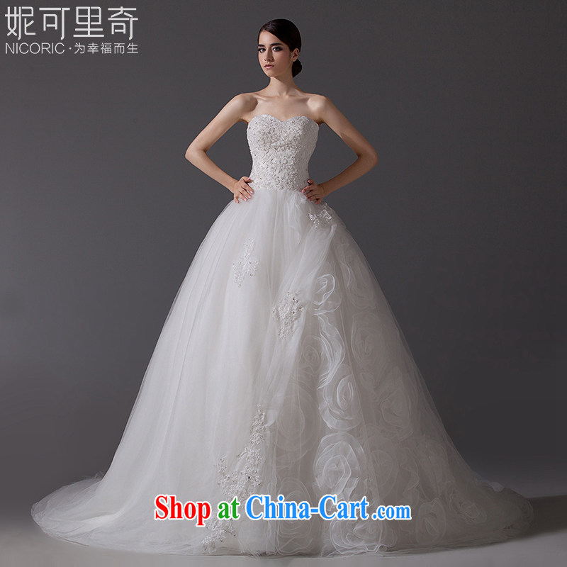 Kidman, 2015 new wedding dresses stylish erase chest wedding lace wedding long-tail wedding bridal wedding wedding wedding band video thin large code-tail 200 CM Advanced Customization 15 day shipping