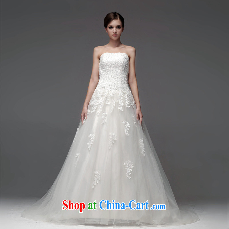 A yarn 2015 new wedding dresses lace bare chest Lace Up waist graphics thin A Field dress with wedding NW 0708 white XL code 30 days pre-sale