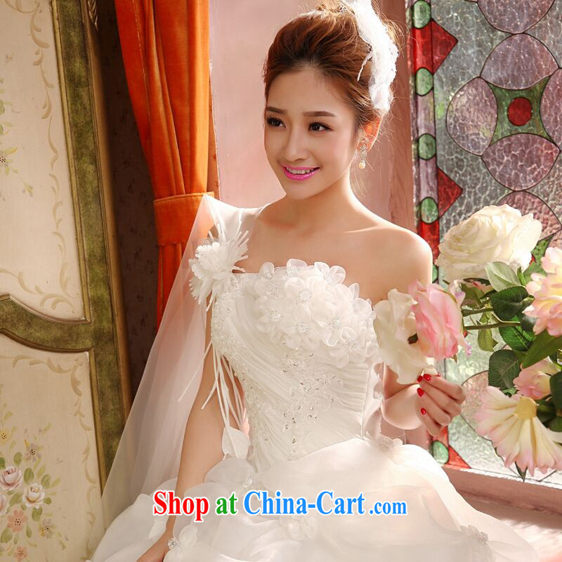 Love, Norman 2015 new wedding dresses stylish Korean-style single shoulder alignment to the Code on MM graphics thin wedding Spring Summer Fall Classic style M pieced, love so Pang (AIRANPENG), and, on-line shopping