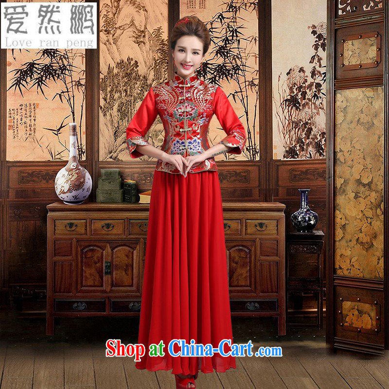 Love so Peng 2014 new Chinese wedding dresses bridal red bows, serving modern retro improved cultivation winter dresses customer the size will not be returned.