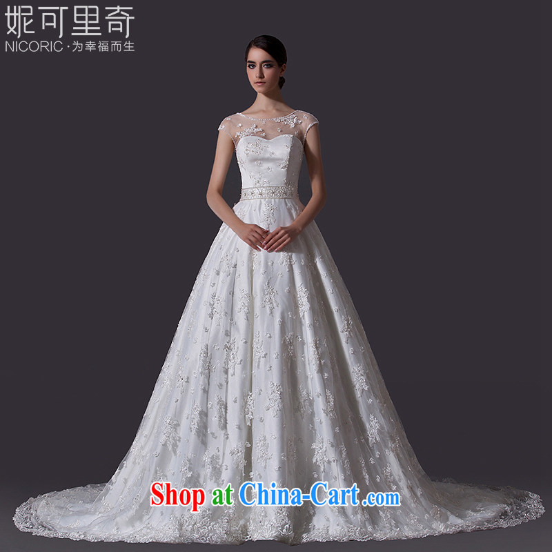 Bridal wedding dresses new spring 2015 Mary Magdalene stylish chest wedding lace wedding long-tail wedding, wedding annual concert hosted service female tail 200 CM Advanced Customization 15 day shipping